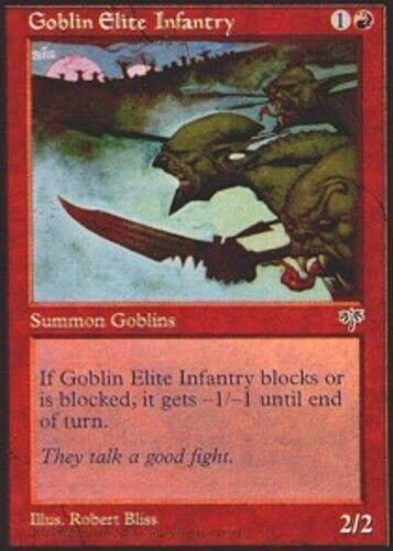 4x Goblin Elite Infantry MTG Mirage NM Magic Regular