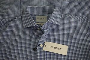 Lebury-NEW-WITH-TAGS-The-Guyer-Check-Classic-Light-Blue-Plaid-Dress-Shirt-16-5
