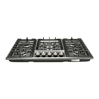 US Seller METAWELL 30 Black Titanium Built-in 5 Burners Stoves Natural Gas Hob Cooktops Cooker