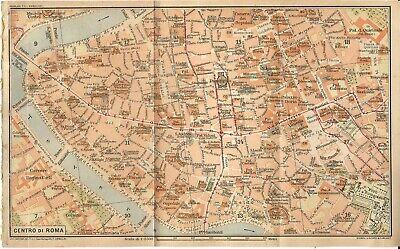 Roma Cartina Turistica Da Stampare.Roma Centro Mappa Della Citta Del Touring Club Italiano 1925 Carta Geografica Ebay
