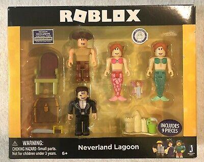 ROBLOX Neverland Lagon Célébrité Collection 4-Figurine Pack 9 Pcs avec Virtual code