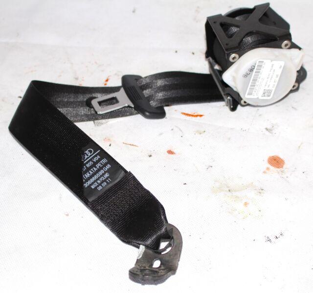 Audi A1 8X 3-DOOR Asiento Trasero Cinturón Negro 8X0857805 para Lado Derecho