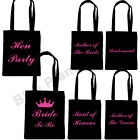 BLACK HEN PARTY DO TOTE BAGS FAVOUR PRESENT KEEPSAKE GIRLS NIGHT OUT BAG