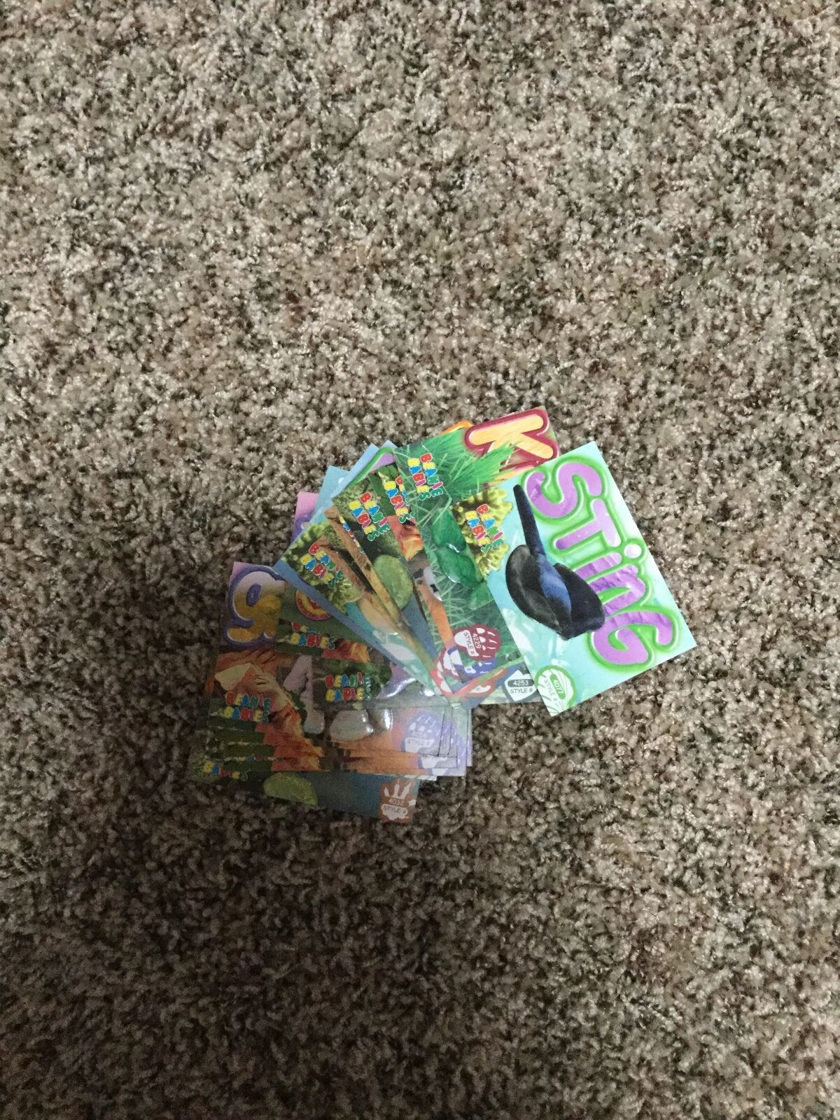 Beanie baby trading cards, various additions