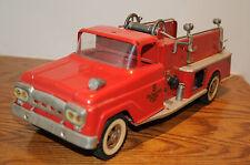 Early Tonka Toys Ford Cab Suburban Pumper Fire Truck RARE 60's Original Diecast.