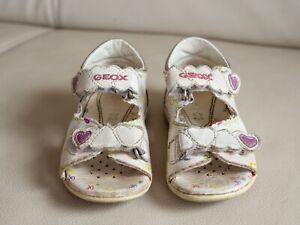 Details zu Kinderschuhe, Sandalen, Marke Geox, für Mädchen, Größe 25, weiß