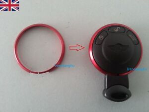 Fits-BMW-Mini-Cooper-S-One-Remote-key-FOB-Red-replacement-aluminium-trim-ring