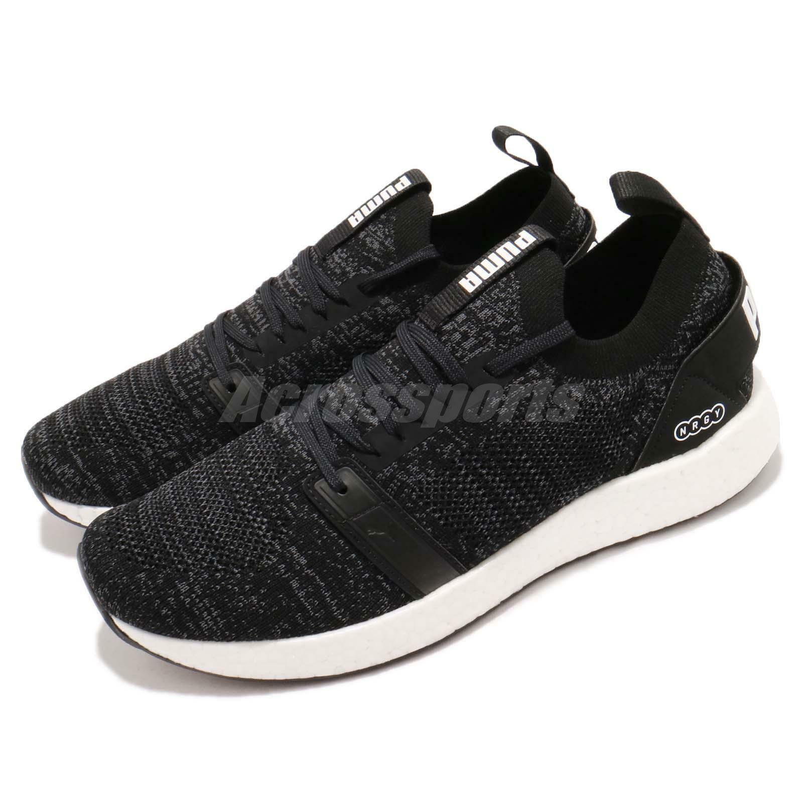 Puma NRGY Neko Engineer Knit Noir blanc Baskets  Hommes Running Chaussures Baskets blanc 191097-01 85fd05