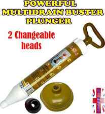 NEW POWERFUL MULTI DRAIN BUSTER VACUM PLUNGER TOILET SINK CLOG SUCKER REMOVER