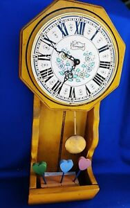 Rare Cornwall Grandfather Pendulum Kitchen Wall Clock
