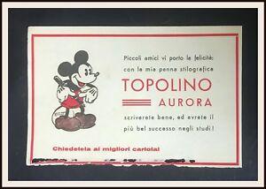 TOPOLINO-PENNA-AURORA-carta-assorbente-promozionale-1935-DISNEYANA-IT