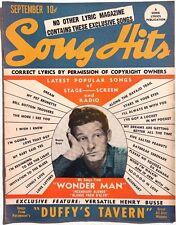 Vintage September 1945 SONG HITS Lyrics Magazine (Danny Kaye) Wonder man