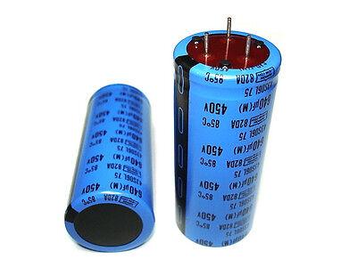 10pcs 750uF 450V 82DA NEW Nippon High Voltage 3 lead Ham Tube Amp Capacitors