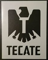 Tecate Beer 8.5 X 11 Stencil Fast Free Shipping