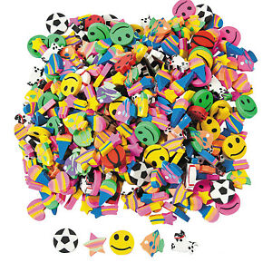 Mini-Eraser-Rubbers-Assorted-Party-Favours-Kids-Erasers-Mixed-Favour-Pack-of-50