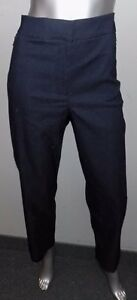 LANE-BRYANT-NEW-Navy-Blue-Stretch-Flat-Front-Slim-Ankle-Length-Pants-Plus-sz-28W