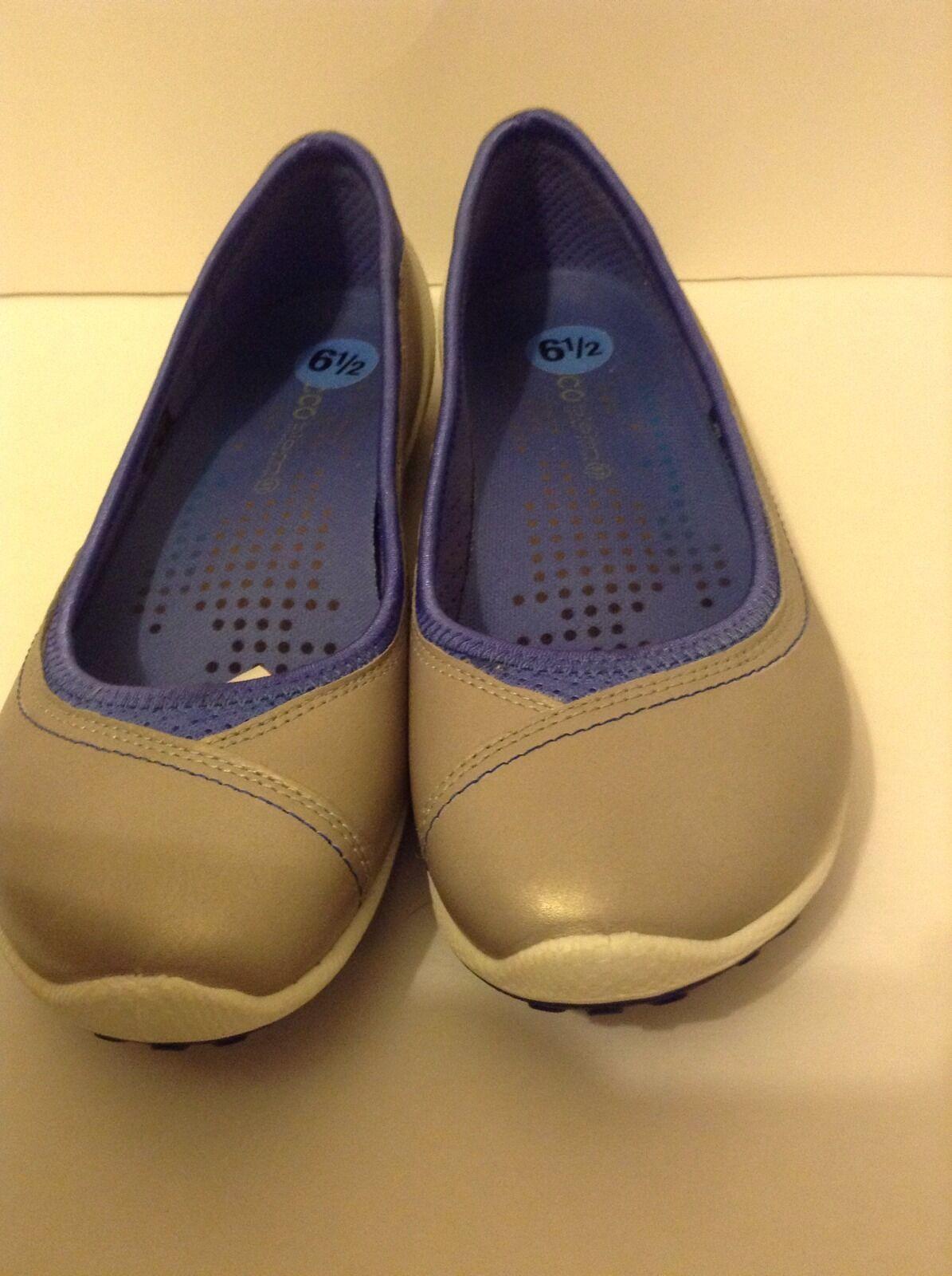 ECCO Größe 6.5 US 'Biom Lite' SLIP Ballerina Flat BALLET FLAT SLIP Lite' ON Gray,sliver d8aa27
