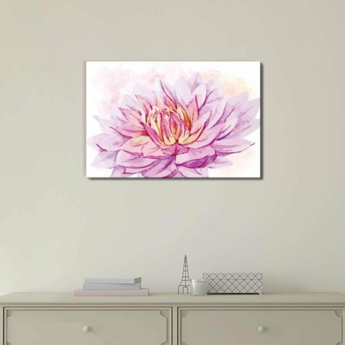 Canvas Art 16x24 inches Shades of Purple and Pink Watercolor Flower