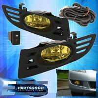 For 2003-2005 Honda Accord Coupe 2 Door Jdm Fog Light Yellow Lamp Assembly Kit