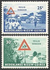 Netherlands New Guinea 1962 Cars/Road Safety/VW/Police/Transport 2v set (n23476)