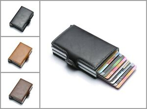 Automatic-Aluminum-Alloy-Hasp-Business-Double-Layer-Cardholder-Leather-Wallet