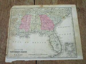 Details about 1876 Map ~ SOUTHERN STATES ~ FL, NC, SC, GA, AL, MS, on north carolina earthquake fault line map, ga co map, ga nv map, ga nc map, ga regions map, ga district map, ga tn map, ga elevation map, ga state map, ga fl map, ga interstate map, ga road map, georgia and florida road map, athens ga map, ga al map, ga st map, south carolina map, south ga cities map, ga rivers map, ga ala map,