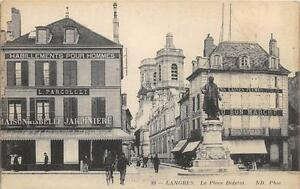 CPA 52 LANGRES LA PLACE DIDEROT