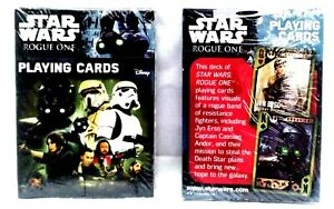 Star Wars Rogue One PLAYING CARDS - 2 New Game Toy Decks