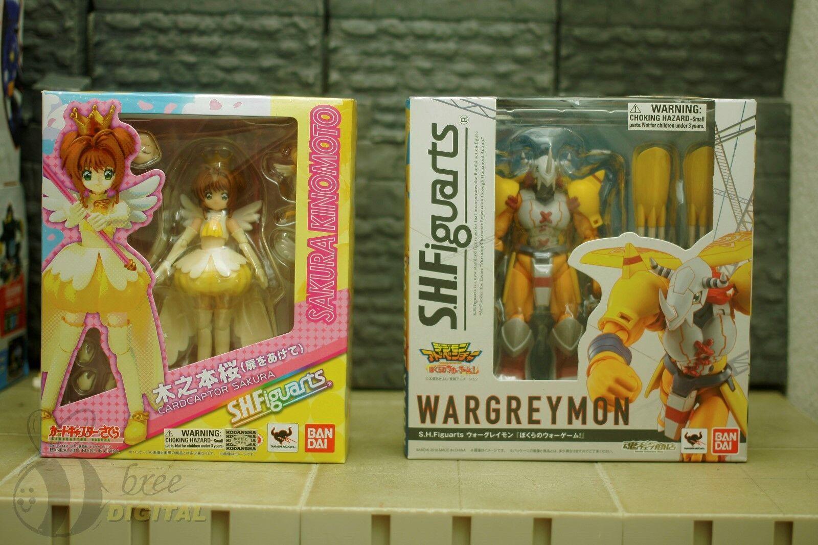 SH Figuarts Lot Cardcaptor Digimon Wargreymon Sakura