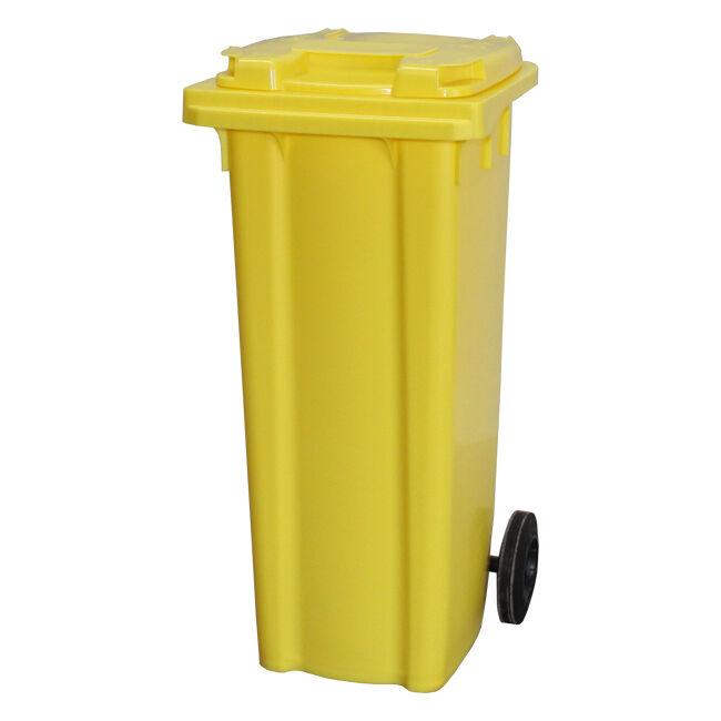 140 Litre Wheelie Bin   Yellow