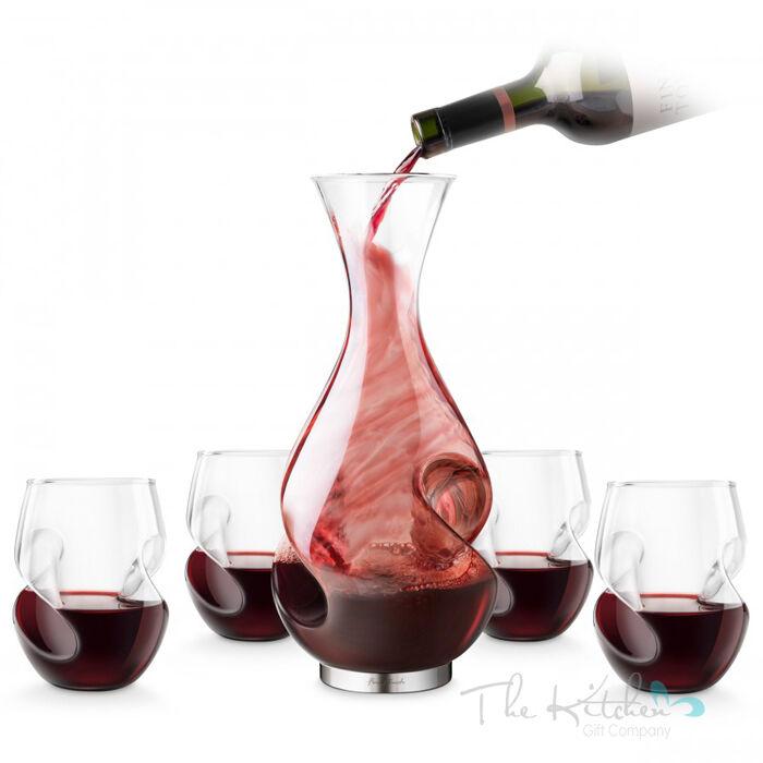 L'GRAND dilemme l'aération decanter & 4 x verres à vin-Carafe avec aérateur