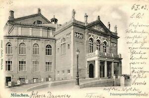 Munich, Le Prince Régent Théâtre, 1903, Bahnpost Munich-würzburg-heater, 1903, Bahnpost München-würzburgafficher Le Titre D'origine