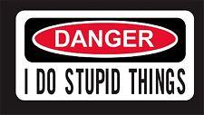 Danger Decal Funny Label Toolbox Lunch Box Red Neck Redneck Hard Hat Sticker