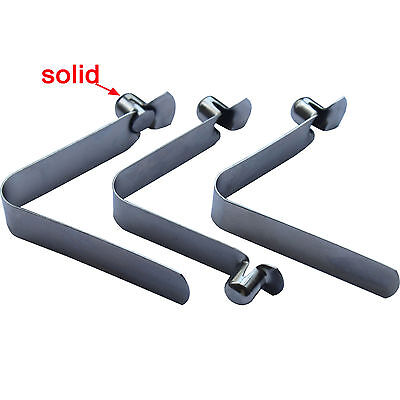 8pcs Stainless Steel Clips Kayak Paddle Tent Pole Snap Button Fastener
