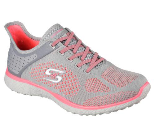 NEW SKECHERS Women Sneakers Trainers Memory Foam MIRCROBURST SUPERSONIC grey