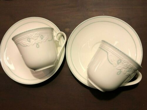 2x Villeroy &Boch V&B Amado Kaffeetasse Obere Untere Porzellan bone china