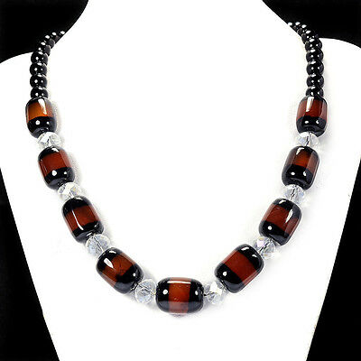 Natural Botswana Fire Agate Necklace Handmade Gemstone Jewellery Tantric Tokyo