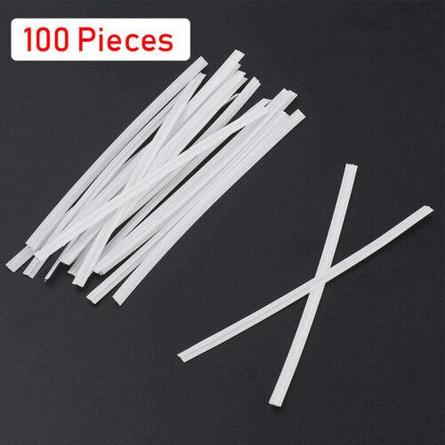 100PCS DIY Nose Bridge Clip Plastic White PE Bendable Wire Cable Handmade Crafts