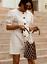 Mini cassé en mélangé XL X Ss18 lin boutonnée bouffantes manches Zara XL blanc robe L à 5Uppqg
