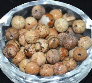 30PCS Wholesale Jasper Natural Gemstone Round Spacer Loose Beads 6MM JEWELRY DIY