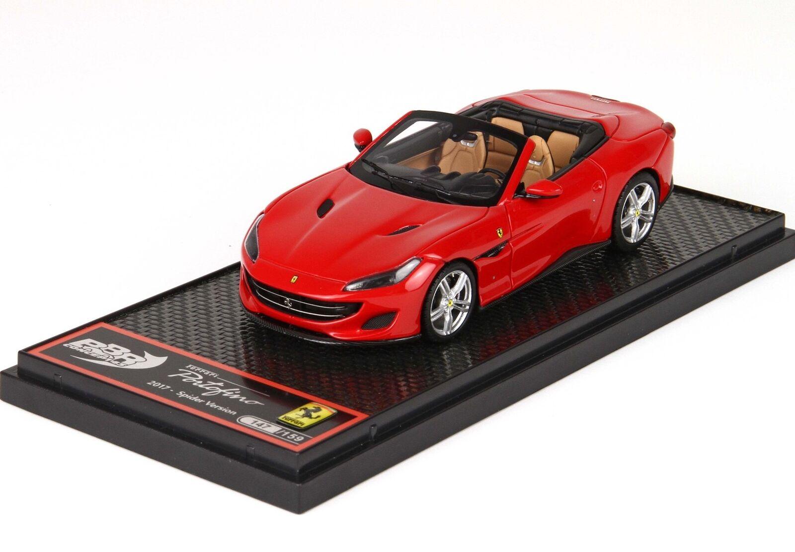 Ferrari  Portofino Cabriolet Open 2017 rouge Corsa Lim.Ed.159 BBR 1 43 BBRC207B  juste l'acheter