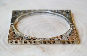 Turkish-Handmade-Jewelry-Sterling-Silver-925-Quartz-Bracelet-Bangle-Cuff