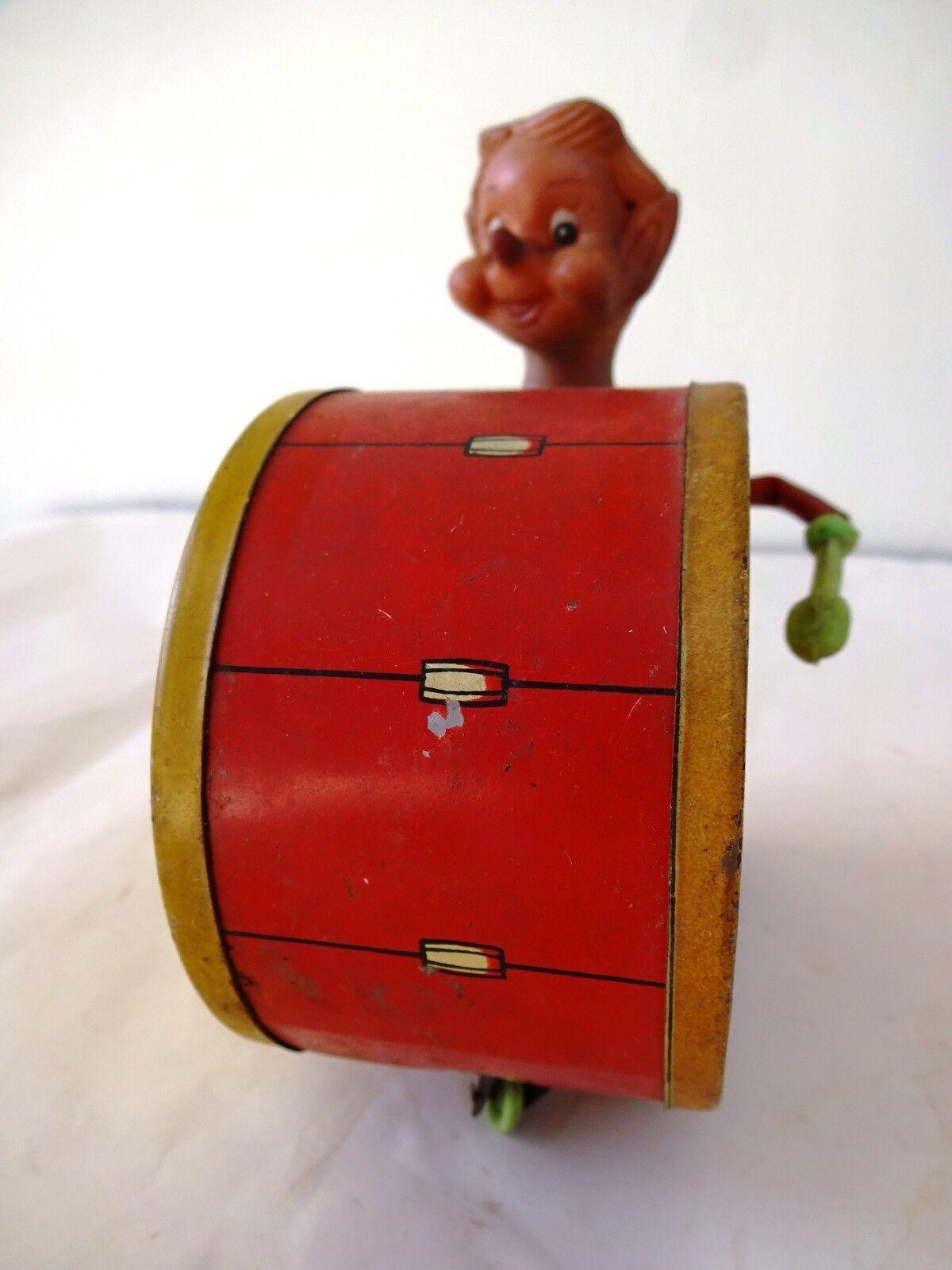 AnBindenke Tin speelgoed Litho Wind Up Circus Raja Speelgoed CLaagn Joker Drummer CollecBindenf