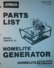 Homelite 190hy50 1 Generator Parts Manual 5000w Hy Camping Backup Power Off Grid