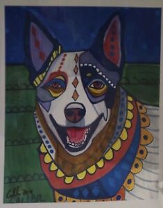 Dog-amp-Cat-Art-Prints-Lot-Artist-Heather-Galler