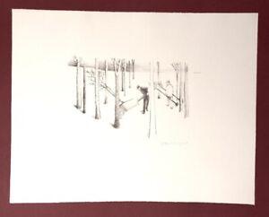 Gottfried Weigand, trasporto più facile alberi, litografia, 1978, firmato a mano