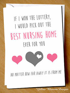Greeting card mum birthday mothers day nursing home funny rude joke image is loading greeting card mum birthday mothers day nursing home m4hsunfo