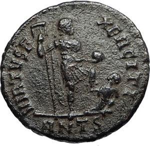 ARCADIUS-w-Chi-Rho-Labarum-amp-Captive-Authentic-Ancient-383AD-Roman-Coin-i67262
