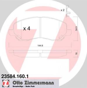 Scheibenbremse Vorderachse ZIMMERMANN 23584.160.1 Bremsbelagsatz