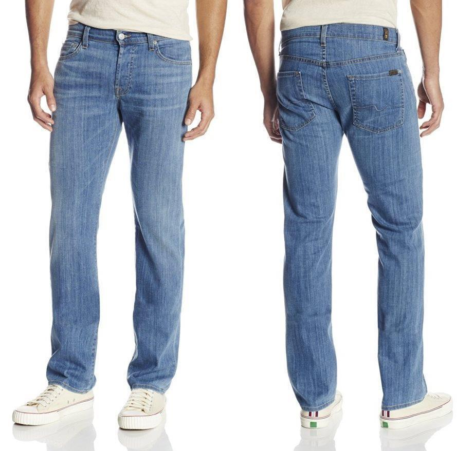 NWT 7 for All Mankind Men's Standard Straight Leg Jeans in LA Light 29